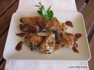 Pollastre fet amb servesa i patates amb pell cuites al microones 001