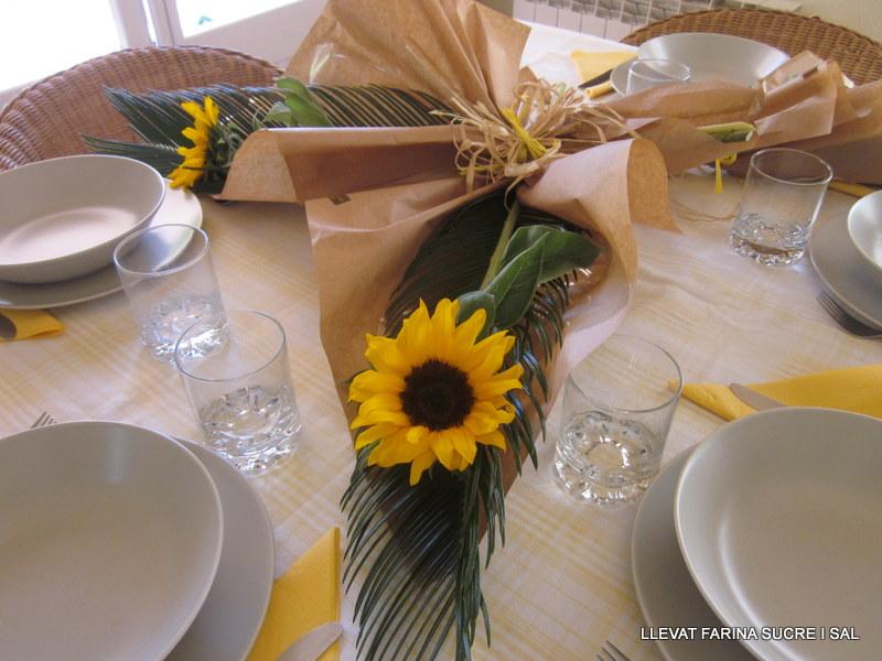 taula girasols pastís Marroiqui 003