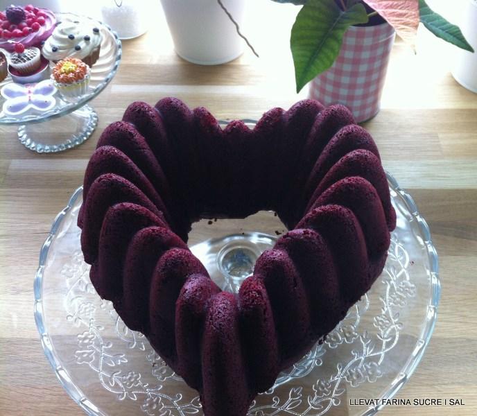 RED VELVET BUNDT CAKE O PASTÍS DE VELLUTVERMELL