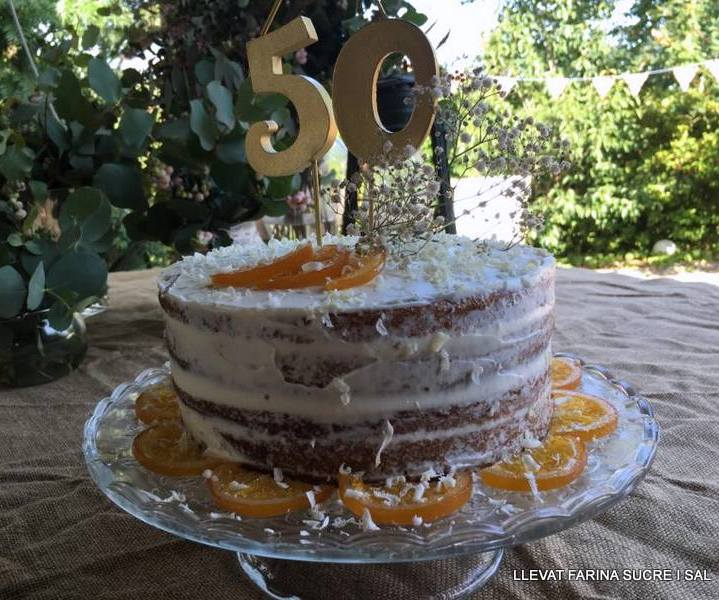 NACKED CAKE DE TARONJA I XOCOLATABLANCA